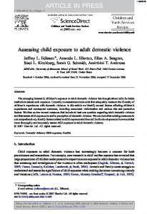 Assessing child exposure to adult domestic violence