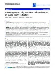 Assessing community variation and randomness in ... - ScienceOpen
