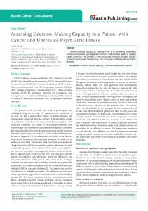 Assessing Decision-Making Capacity in a Patient with Cancer and ...