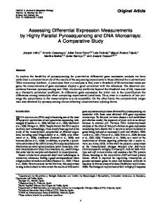 Assessing Differential Expression Measurements by ...