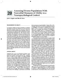 Assessing Diverse Populations With Nonverbal