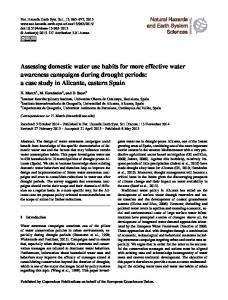 Assessing domestic water use habits for more effective water ...