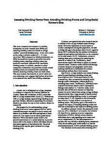 Assessing Drinking Norms from Attending Drinking Events and Using ...