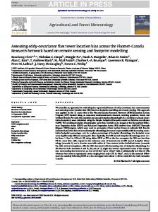 Assessing eddy-covariance flux tower location bias across the Fluxnet ...