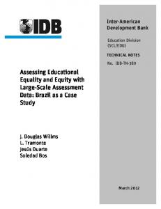 Assessing Educational Equality and Equity with ... - IDB - Publications
