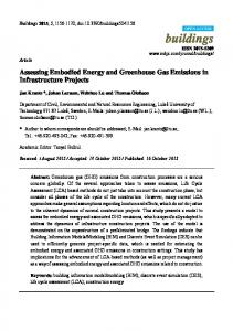 Assessing Embodied Energy and Greenhouse Gas Emissions in ...