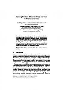 Assessing Emotions Related to Privacy and Trust in ...