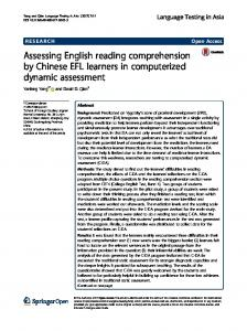 Assessing English reading comprehension by