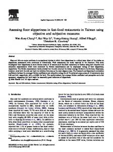 Assessing floor slipperiness in fast-food restaurants in ...