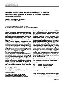 Assessing health-related quality-of-life changes in ... - BioMedSearch