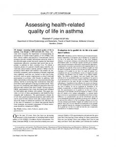 Assessing health-related quality of life in asthma - Hindawi