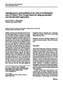 Assessing heavy metal pollution in the water level ... - Springer Link