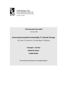 Assessing Household Vulnerability to Climate Change - CiteSeerX