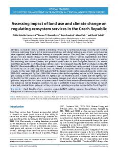 Assessing impact of land use and climate ... - Wiley Online Library