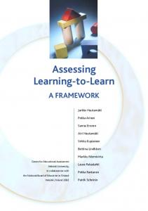 Assessing Learning-to-Learn - Opetushallitus
