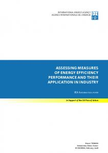 Assessing Measures of Energy Efficiency Performance and their ...