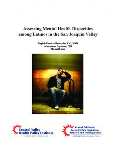 Assessing Mental Health Disparities among Latinos in the San ...