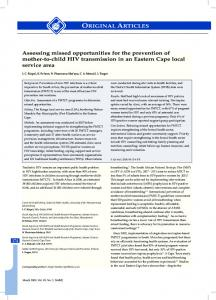 Assessing missed opportunities for the prevention of mother-to-child ...
