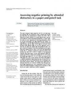 Assessing negative priming by attended distractors in a ... - SciELO