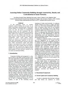 Assessing Online Community-Building through Assortativity, Density ...