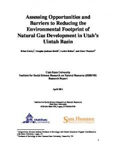Assessing Opportunities and Barriers to Reducing the Environmental ...