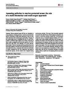 Assessing pollution in marine protected areas: the
