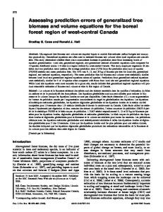 Assessing prediction errors of generalized tree biomass and volume