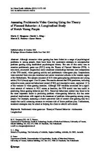 Assessing Problematic Video Gaming Using the ...