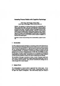 Assessing Process Models with Cognitive ... - Semantic Scholar