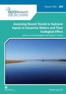 Assessing Recent Trends in Nutrient Inputs to Estuarine Waters and ...