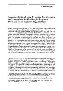 Assessing Regional Crop Irrigation ... - Wiley Online Library