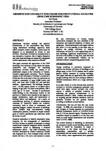 assessing sustainability strategies for institutional facilities ... - IBPSA
