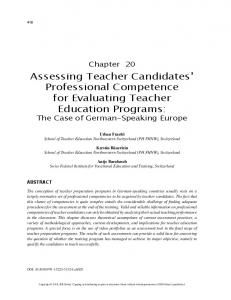 Assessing Teacher Candidates' Professional ...