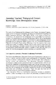 Assessing teachers' pedagogical content knowledge - Springer Link