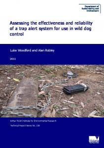 Assessing the effectiveness and reliability of a trap alert ... - CiteSeerX