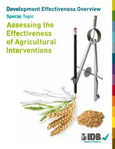 Assessing the Effectiveness of Agricultural ... - IDB - Publications