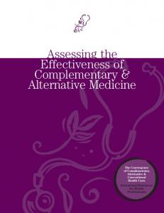 Assessing the Effectiveness of Complementary & Alternative Medicine