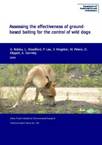 Assessing the effectiveness of ground- based ...
