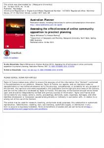 Assessing the effectiveness of online community ...