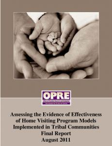Assessing the Evidence of Effectiveness of Home Visiting Program ...