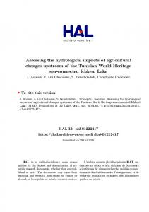 Assessing the hydrological impacts of agricultural