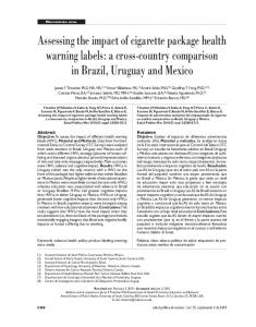 Assessing the impact of cigarette package health warning labels: a ...