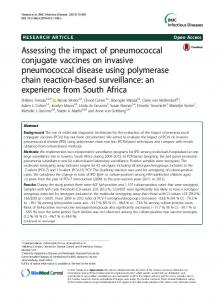 Assessing the impact of pneumococcal conjugate vaccines on ...