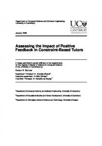 Assessing the Impact of Positive Feedback in Constraint-Based Tutors