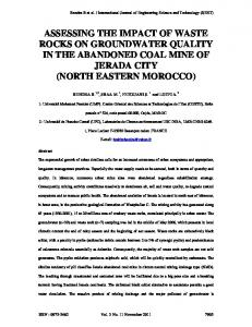 assessing the impact of waste rocks on groundwater ...