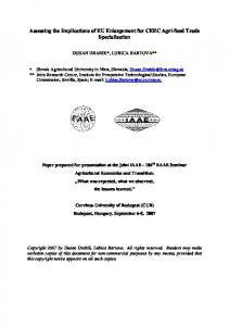 Assessing the Implications of EU Enlargement for ... - AgEcon Search