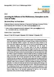 Assessing the Influence of the Multisensory Atmosphere on the ... - MDPI