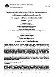 Assessing the Relationship between Oil Prices, Energy Consumption ...