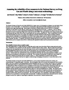 Assessing the reliability of key measures in the ... - Semantic Scholar