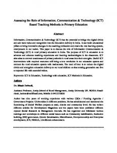 Assessing the Role of Information, Communication & Technology (ICT ...